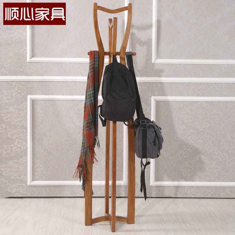 Liking all solid wood furniture begonia wood furniture coat hanger wood floor coat rack hanger racks