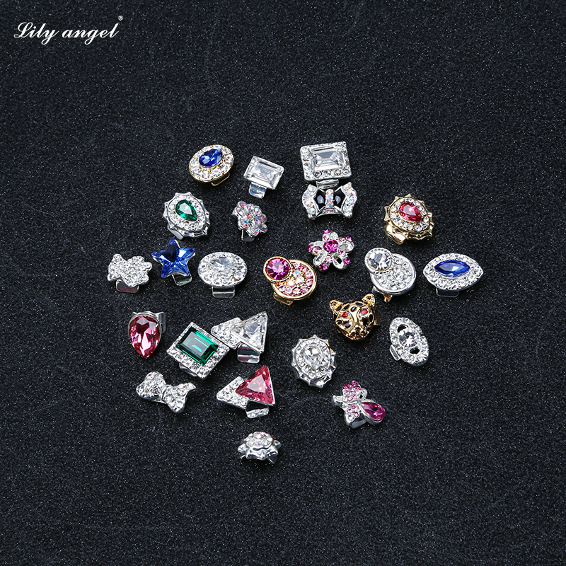 Lily 〓angel gold-plated decalcomania nail jewelry alloy nail stickers diamond jewelry wholesale 407-430 #