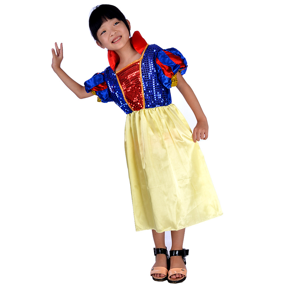Lin fang 140G snow white snow white princess dress children dress up for halloween masquerade cos clothes