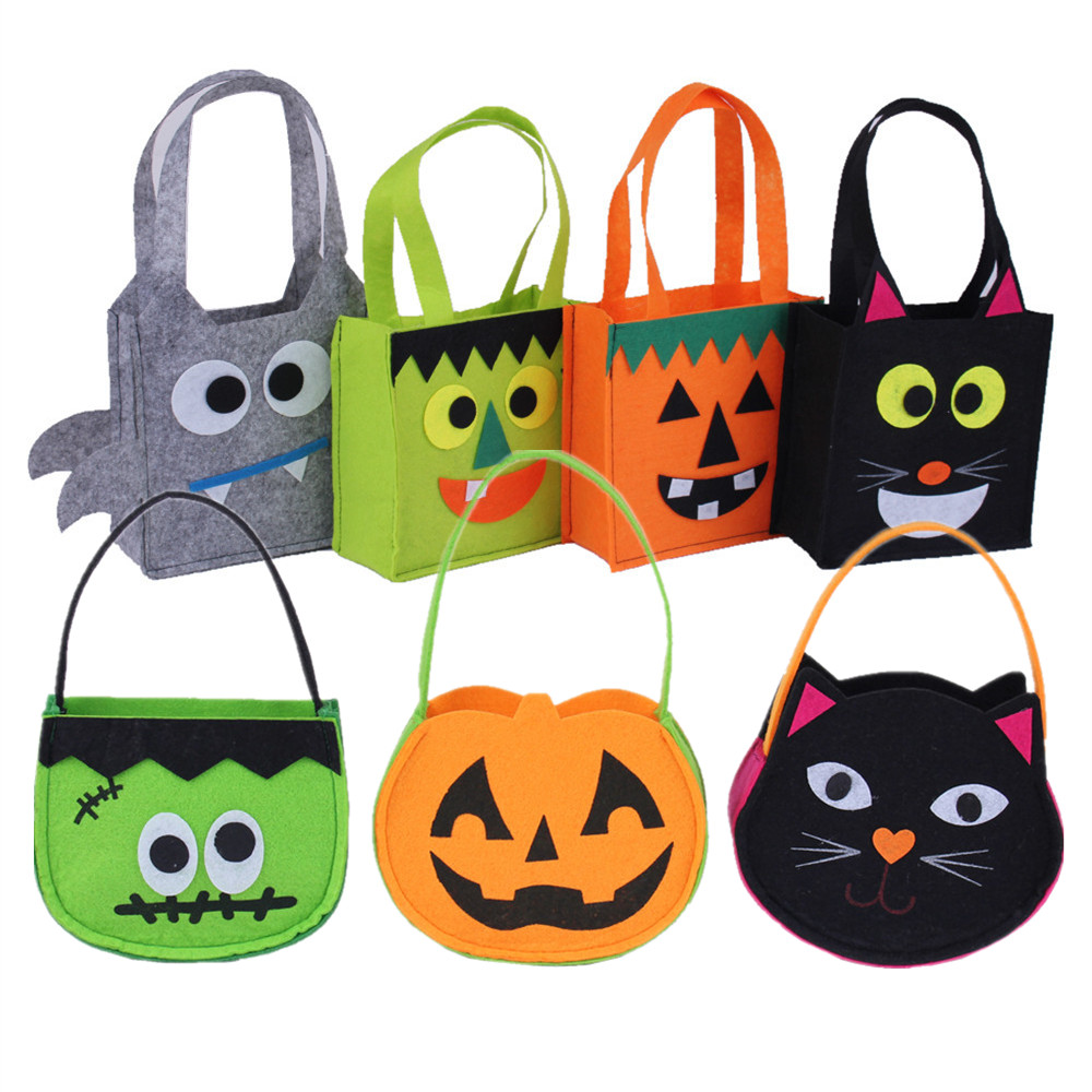 Lin fang g pack of halloween dress halloween props pumpkin spider bat bag handbag candy bag cat bag