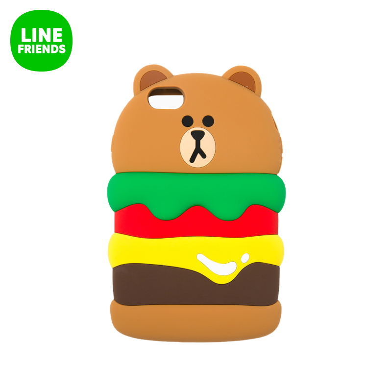 Line friends nicole brown bear burger chips iphone 6 p/6SPlus silicone phone shell