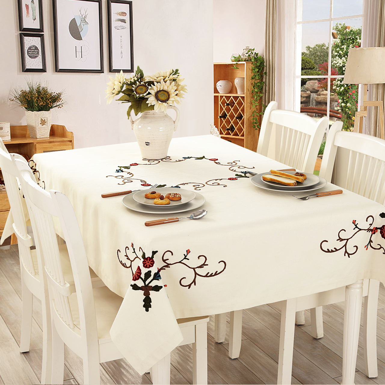 Get Quotations Linen American Country Fabric European Past Coffee Table Cloth Tablecloth Round