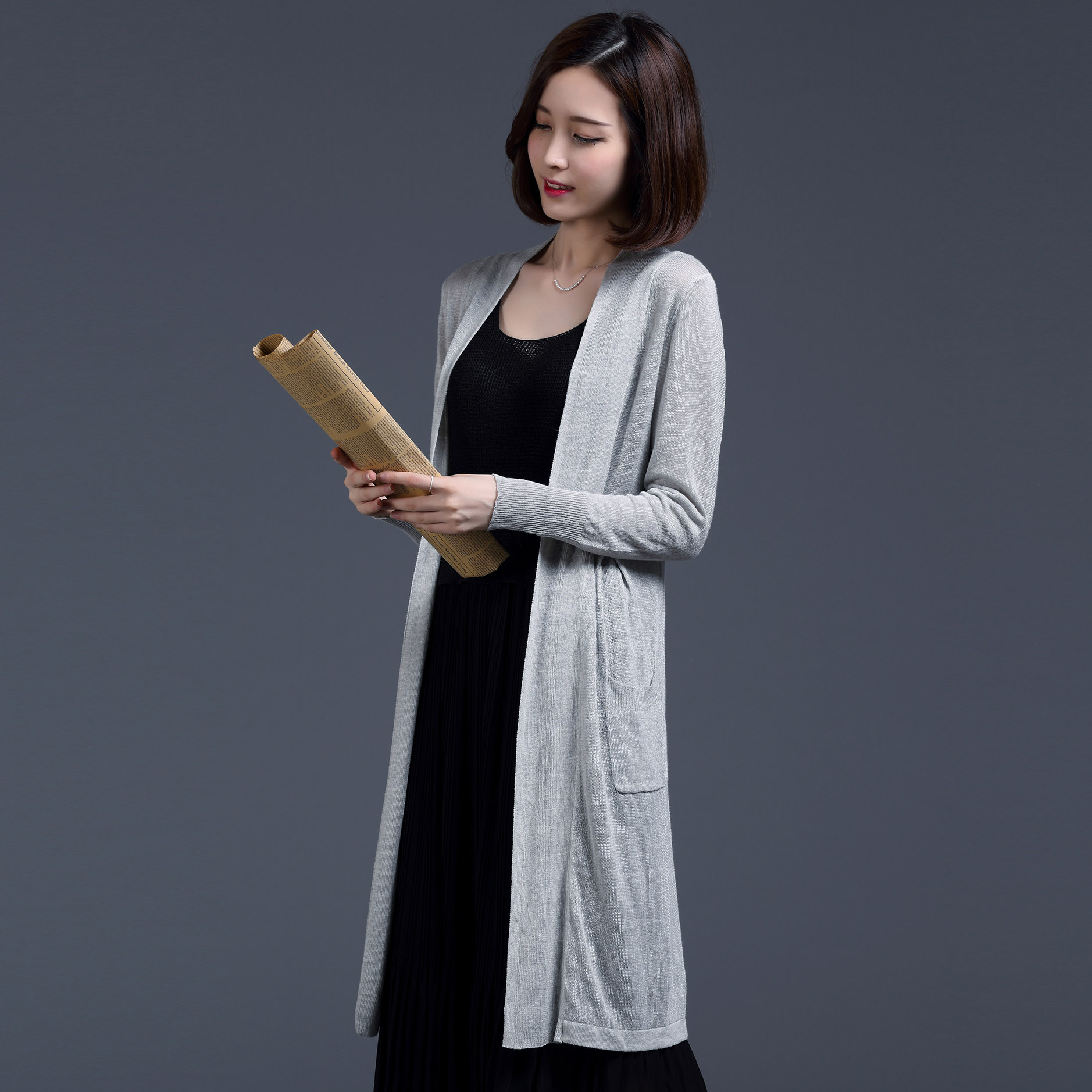 a2cc0c8efe8 Get Quotations · Linen cardigan sweater female 2016 summer thin section of  the new women outside the ride and