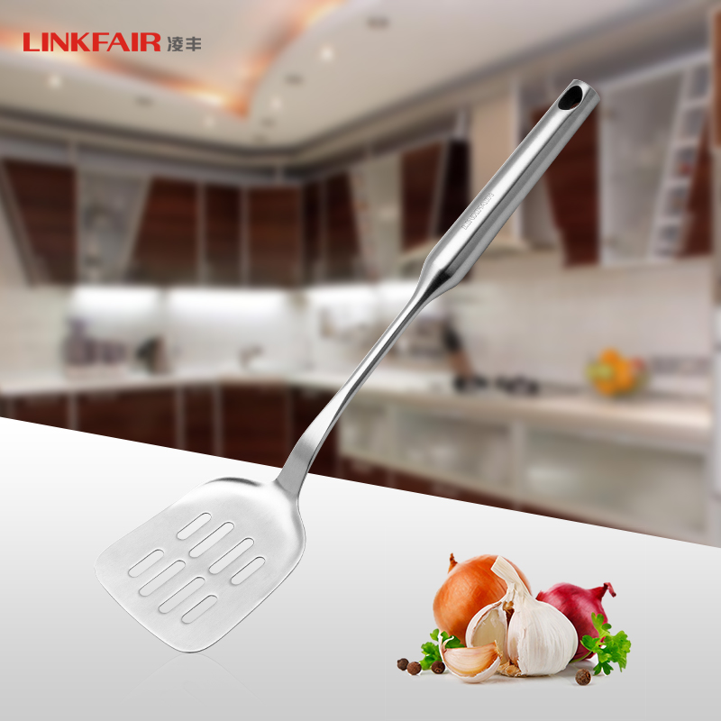 Ling feng kitchen 304 stainless steel frying shovel spatula spatula drain spade shovel integrally molded pan pancake shovel shovel shipping