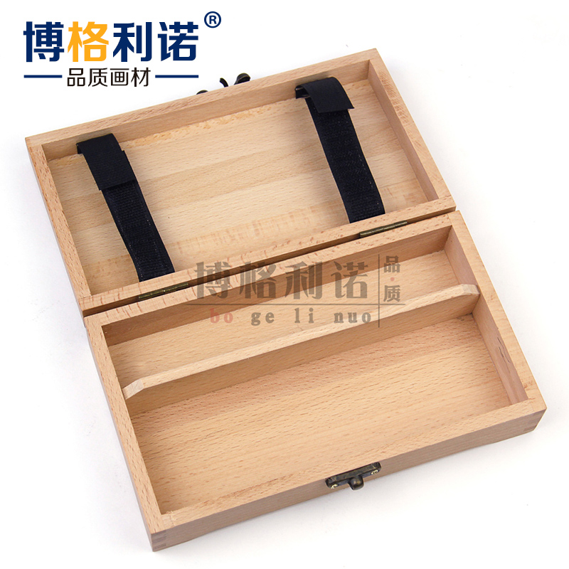 Lino borg wood pencil cases/stationery large capacity pencil stationery free shipping red beech wood square