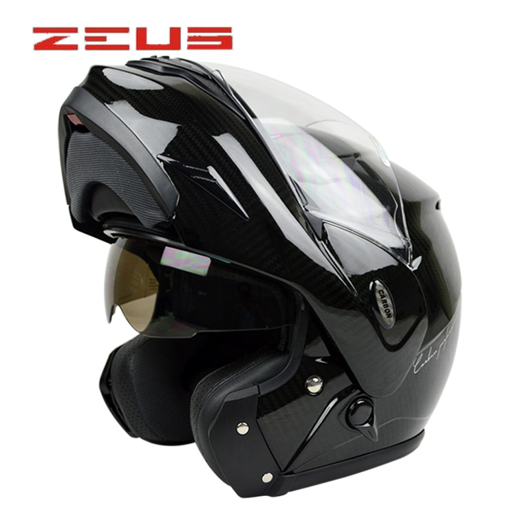 Lions new carbon fiber ultralight ms. male motorcycle helmet visor exposing double lens motorcycle helmet helmet free shipping