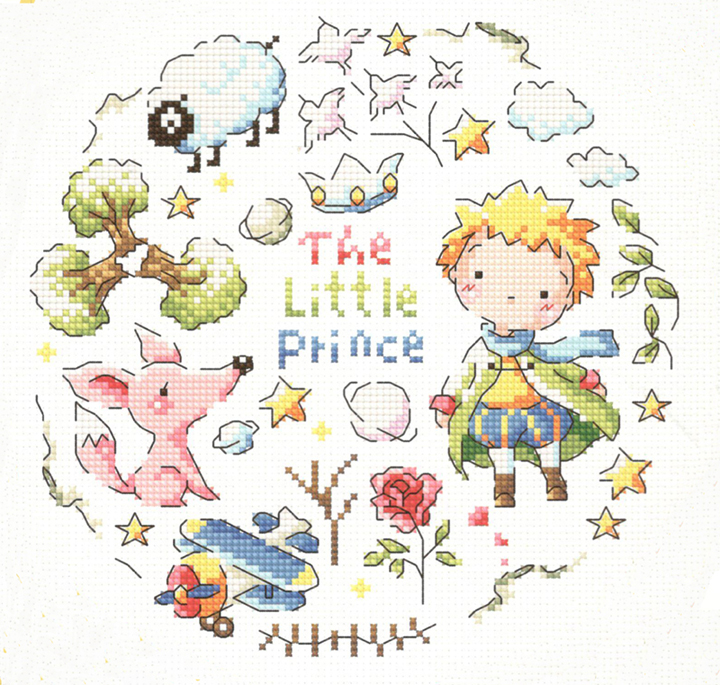 Little fishing egyptian cotton SO3209 [prince] korean version of the lovely accurate printed cloth cross stitch kit