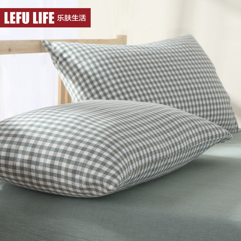 Live music skin washed cotton pillowcase cotton bedding tianzhu cotton pillowcase pillow core sets of small squares