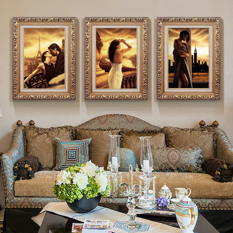 Living room decorative painting paintings entrance painting modern minimalist triple sofa backdrop continental bedroom wall mural painting