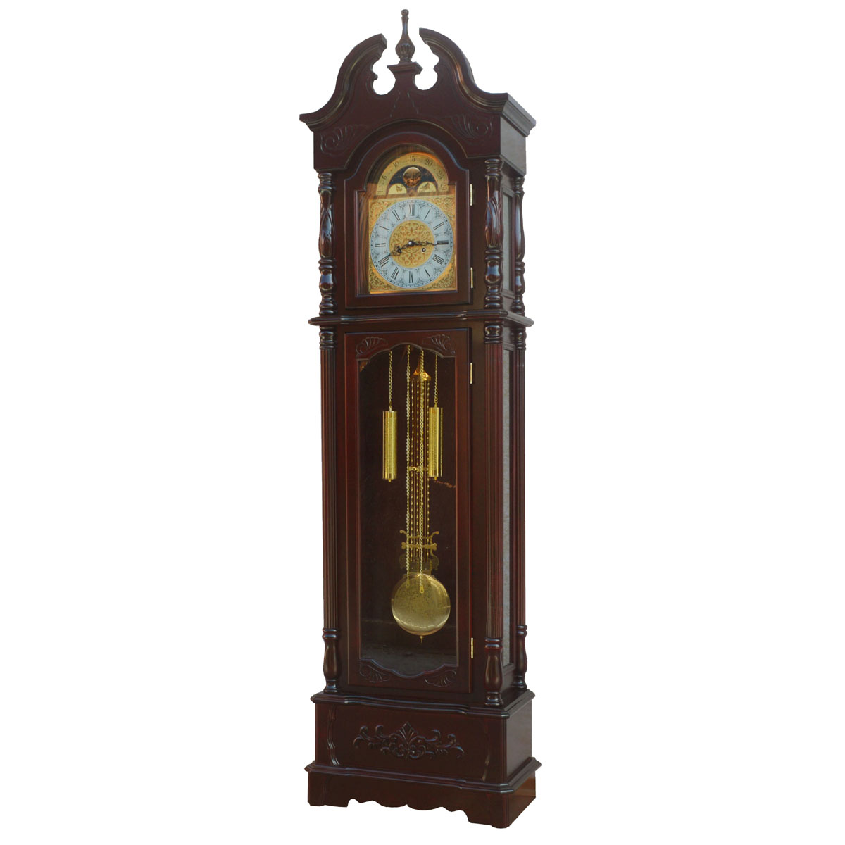 Living room furniture/wood hand carved/polaris movement/chime/european grandfather clock