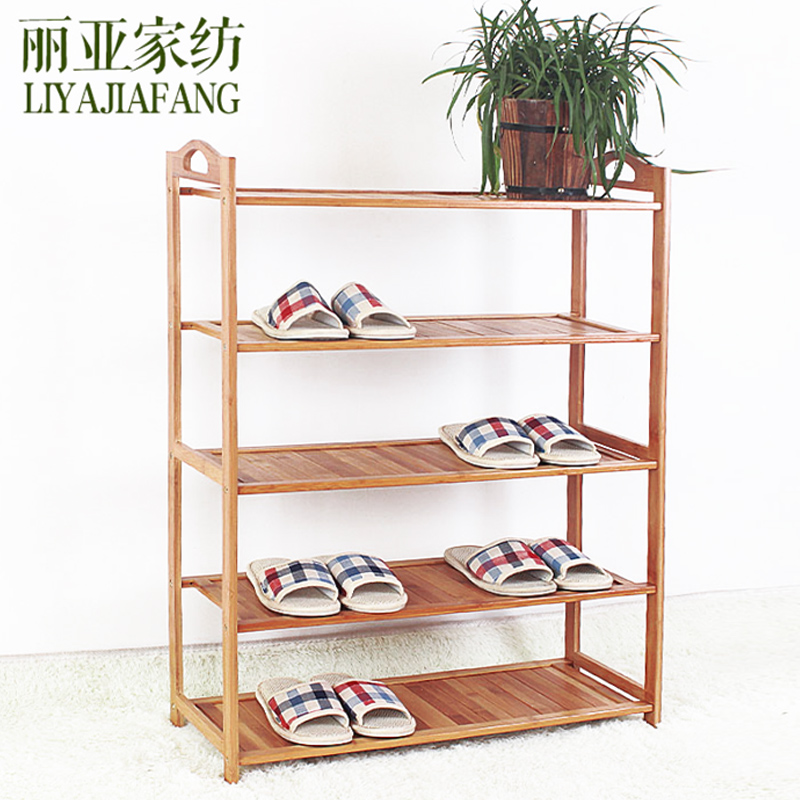 Liya bamboo shoe shoe shoe rack simple multilayer storage rack plate rack made of solid wood home dormitory dust free shipping
