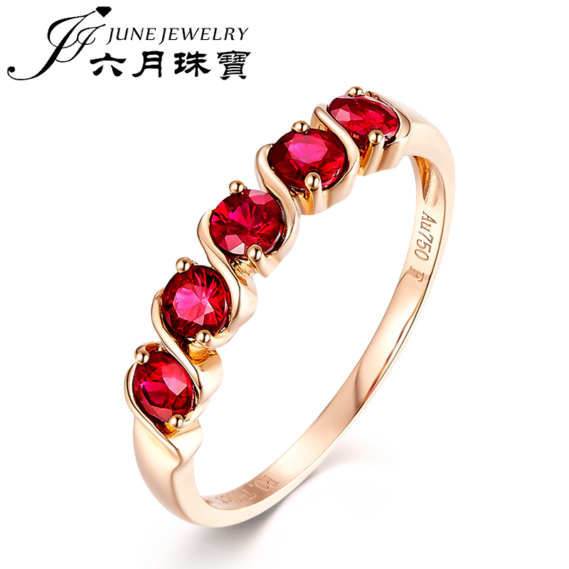 Lloyd's rep. jewelry/jewelry natural June custom female models k gold ruby ring multicolored ring row