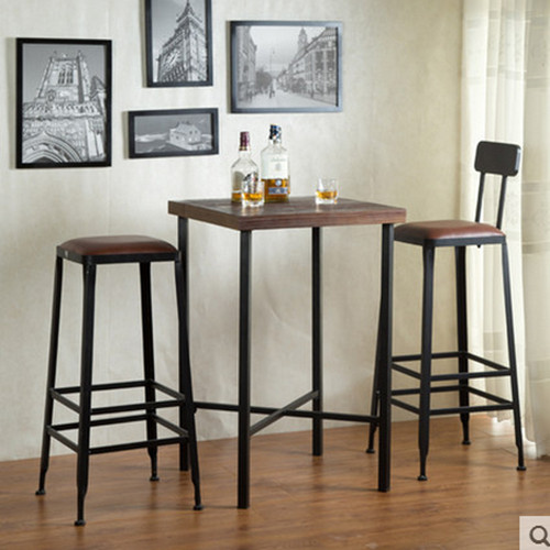 Get Quotations · Loft American Iron Bar Stool Chair Cafe Tables And Chairs  Starbucks Tall Bar Tables And Chairs