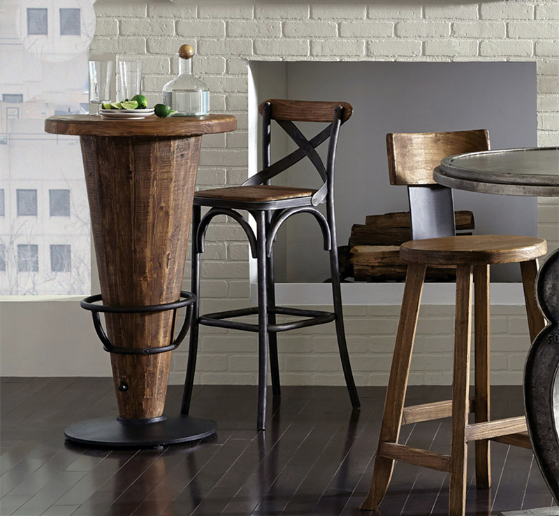 Loft american iron wood bar stool high chair retro bar cafe tables and chairs restaurant bar chairs reception chair bar stool