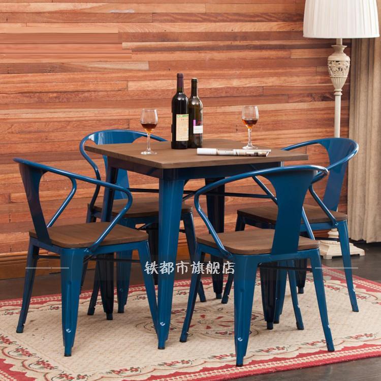 Get Quotations · Loft Retro Wood Bar Tables And Chairs Cafe Tables And  Chairs Tea Dessert Cafe Restaurant Restaurant