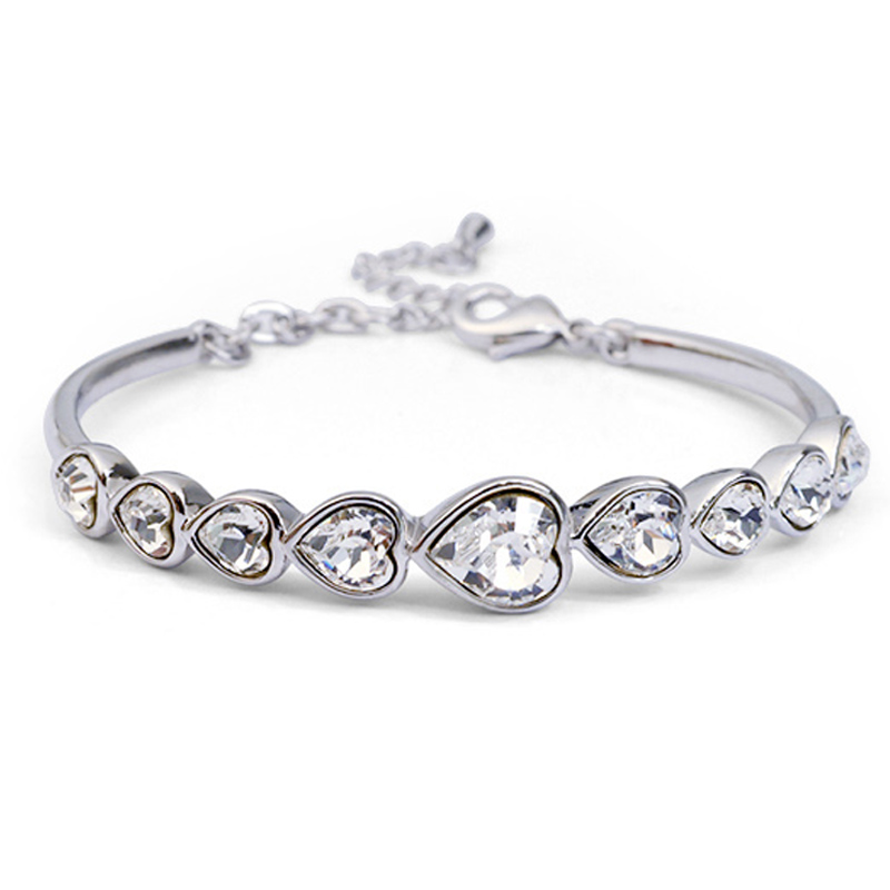 Lohman poetry transparent crystal bracelet female korean version of sweet korean simple and stylish gas quality hand jewelry jewelry accessories