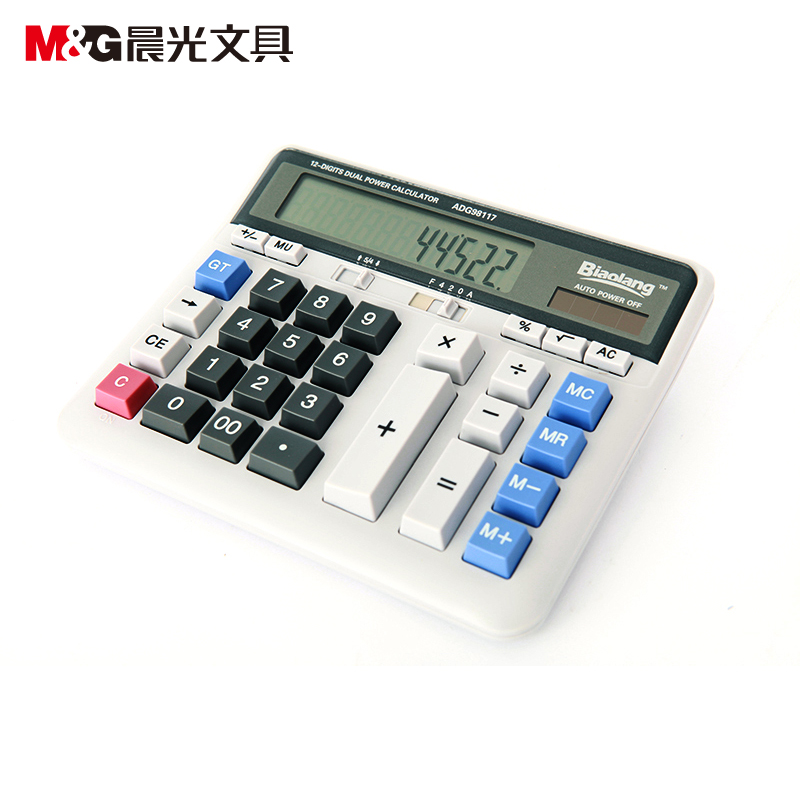 Long dawn standard calculator adg98117 business office desktop shipping large desktop calculator solar computer