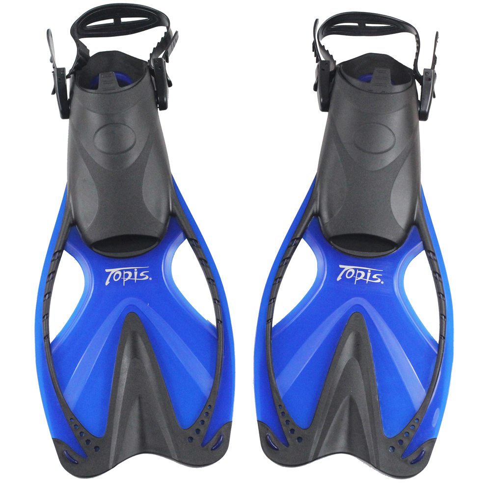 Get Quotations · Long flippers flippers topis adjustable length counter genuine professional swimming training snorkel diving equipment