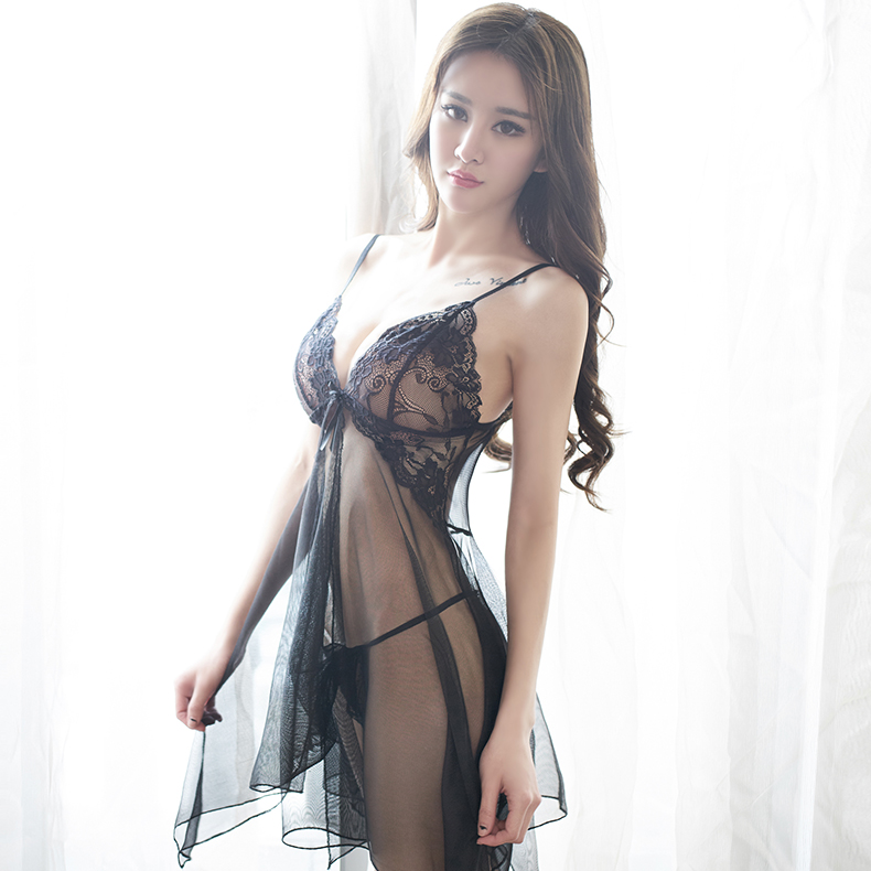 Long muya dai lingerie ms. suspenders temptation transparent lace sexy lingerie sexy pajamas tracksuit summer thin section
