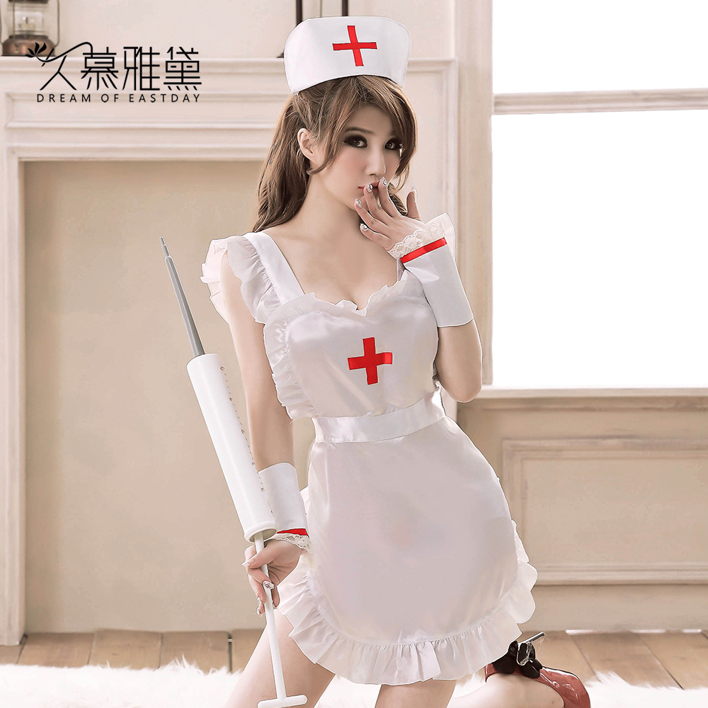 Long muya dai nurse maid outfit sexy lingerie sexy lingerie sexy suit uniform temptation transparent sleep vest s