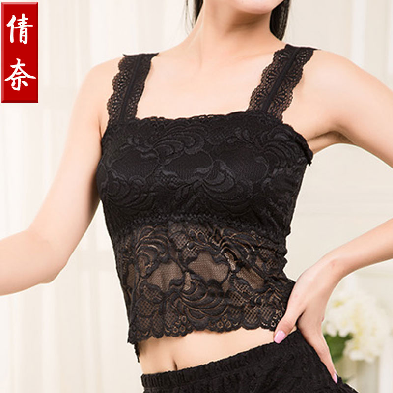 Long paragraph bra chest wrapped lace camisole female summer anti emptied bra chest wrapped around the chest underwear bottoming