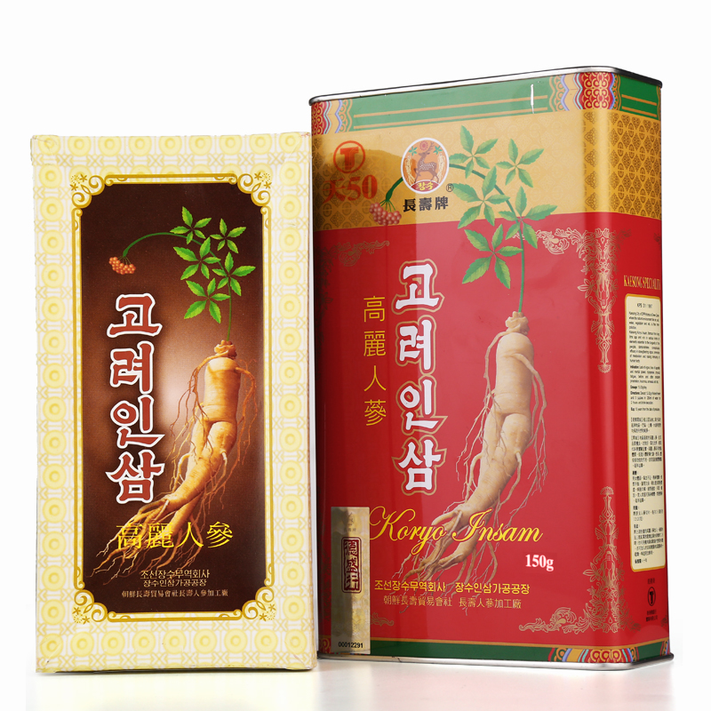 Longevity brand ginseng red ginseng ginseng 6 eradicated korea imported gift box pruning ginseng day 50 support 150g