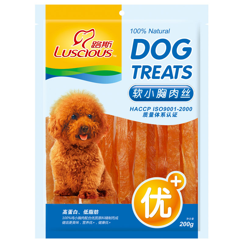 Loos molar teeth stick teddy dog snacks pet chicken jerky strips of chicken breast meat chicken breast meat chicken soft silk 200g