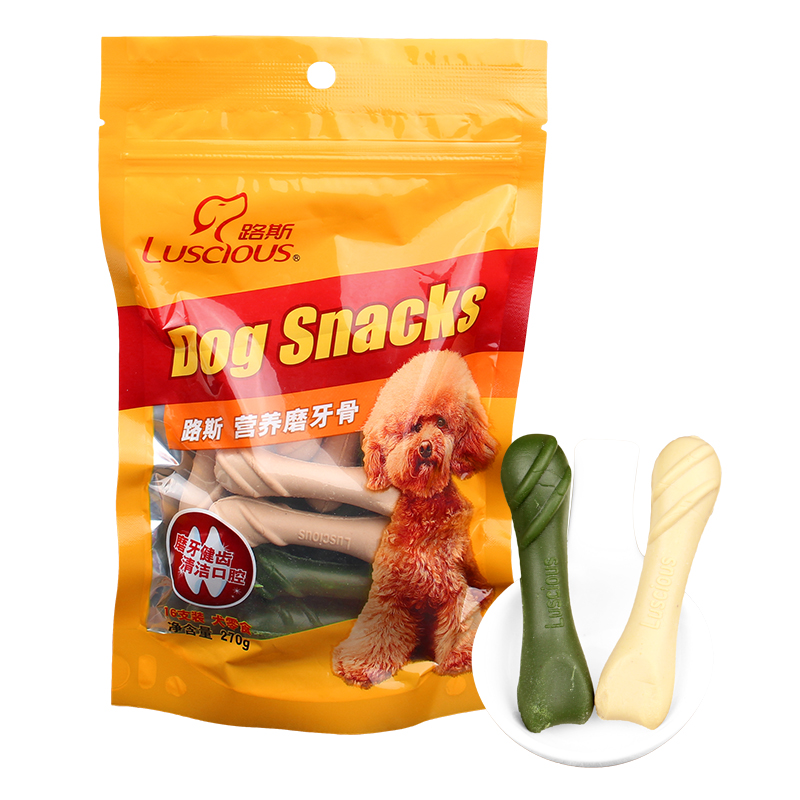 Loos pet dog treats molar bone 270g nutrition bone dog teeth stick dog chews teddy golden retriever dog snacks