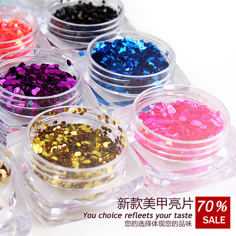 Loose circle round metal matte sequins flash chip nail polish wholesale decorative glitter glitter 1-24