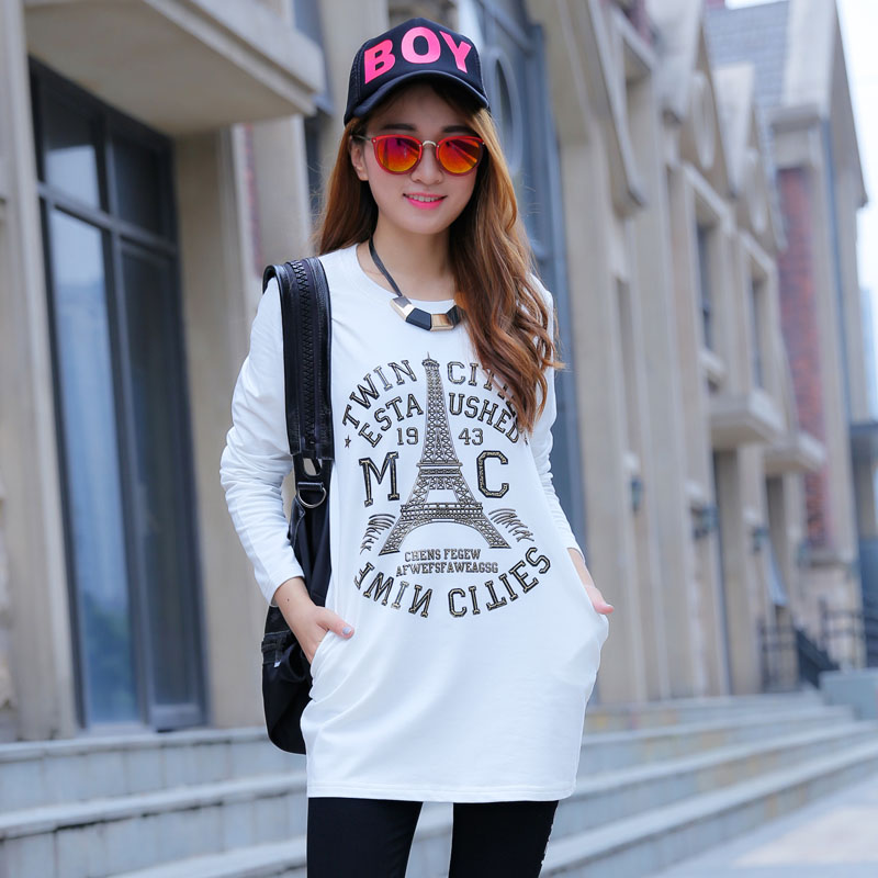 Loose sweater female hedging long sleeve 2016 new spring fashion casual korean tidal student was thin sweater female