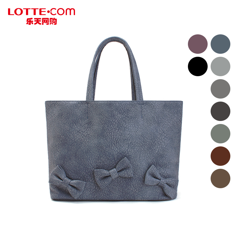 Lotte shopping online mclanee simple and stylish bow tote bag large shopping bag shoulder bag authentic korean