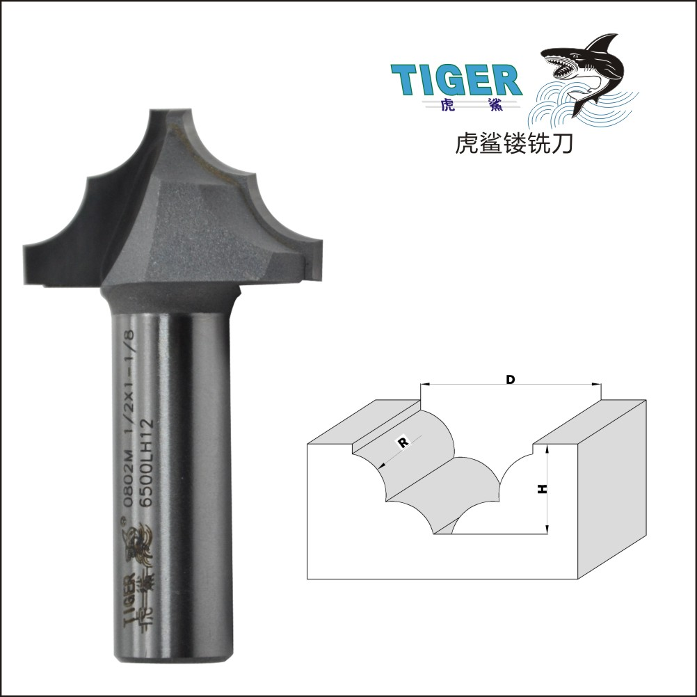 Lou cutter shark bilateral double r line knife cutter knife woodworking cutter gong classical linear decorative knife