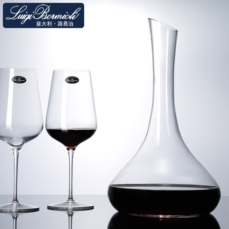 Louis governance handmade blown lead free crystal beveled glass wine decanters wine sheng wine wine wine division
