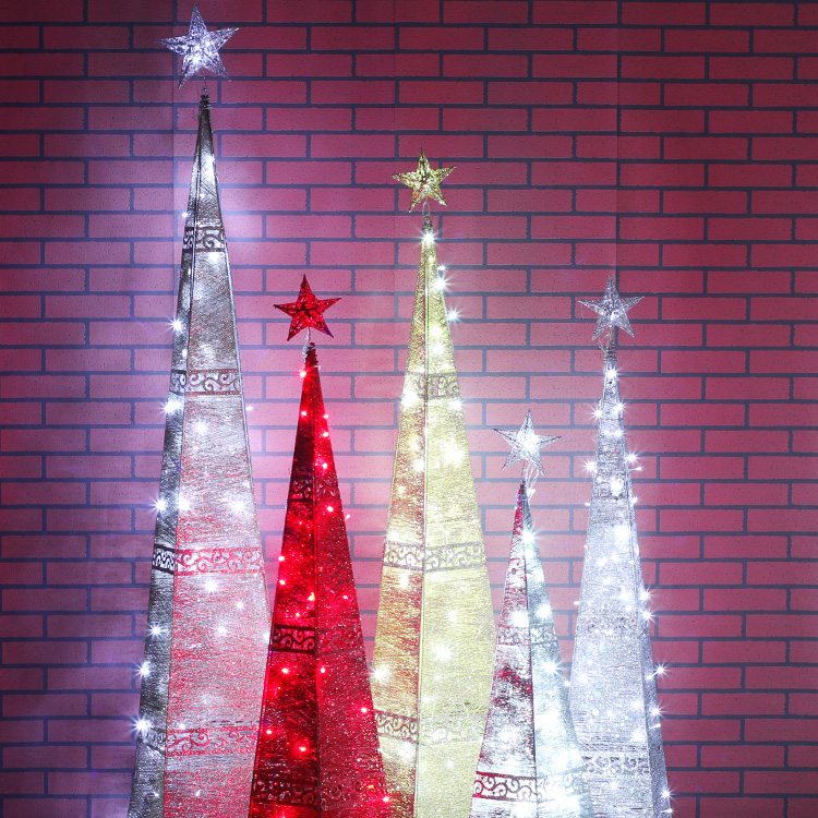 Love 1.8 m gold silver led lighthouse tree surrounded by wrought iron wrought iron tree christmas package christmas tree decoration tree lights