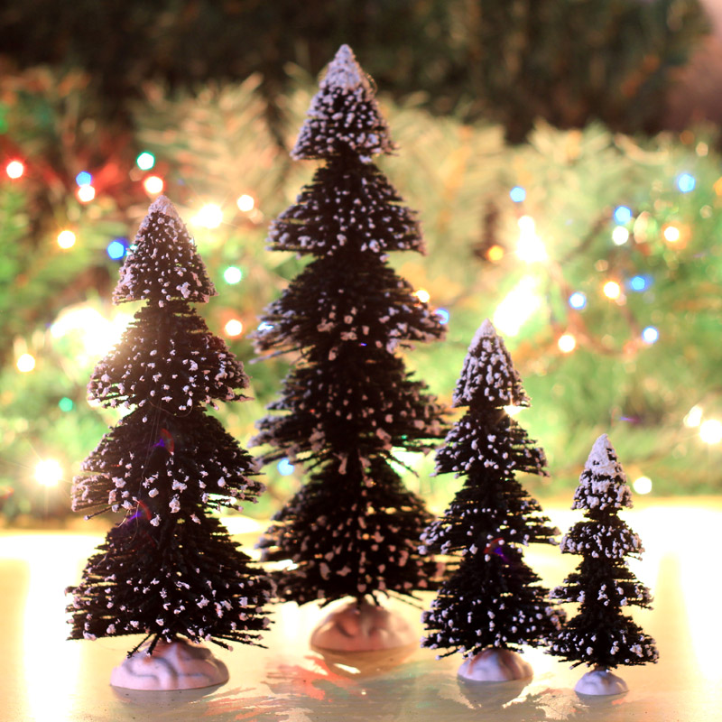 Love 15cm20cm25cm 25cm snow snow flocked mini christmas tree pine needles christmas tree decorations