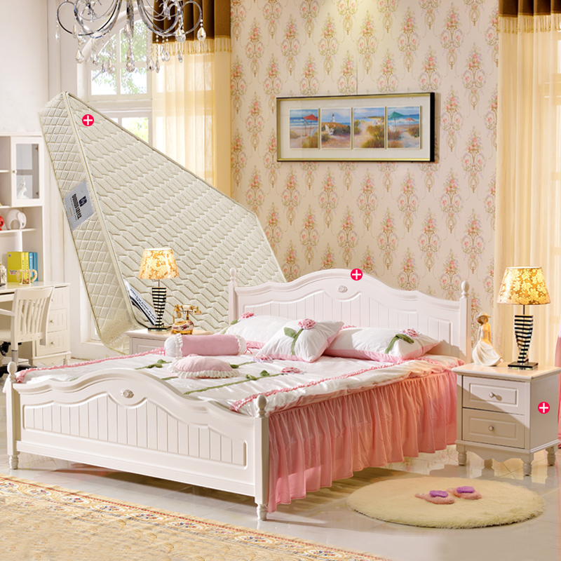 Love apartment bedroom furniture package contadino ensemble bed 1.5 m bed 1.8 m bed + bedside cabinet + Mattress