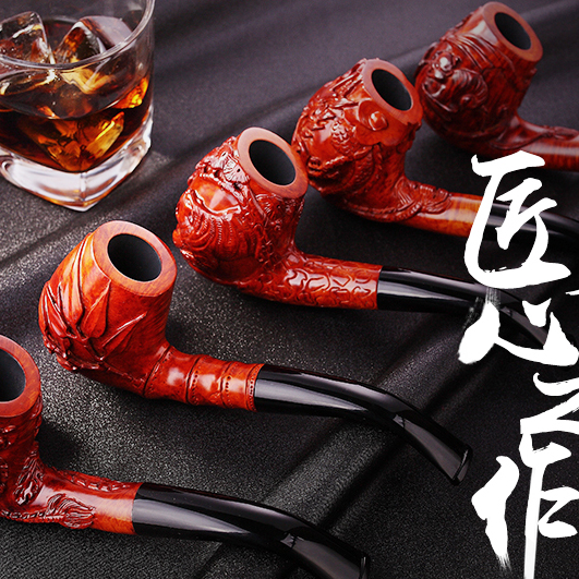 Love bucket shi pipe carved briar pipe tobacco pipe tobacco filter bucket collection level hand carved men old pipe