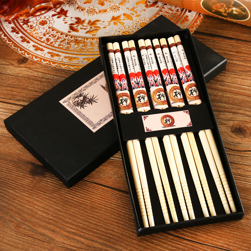 Love life selling ceramic tableware wedding favor birthday gift business gift ideas chopsticks five pairs of dress