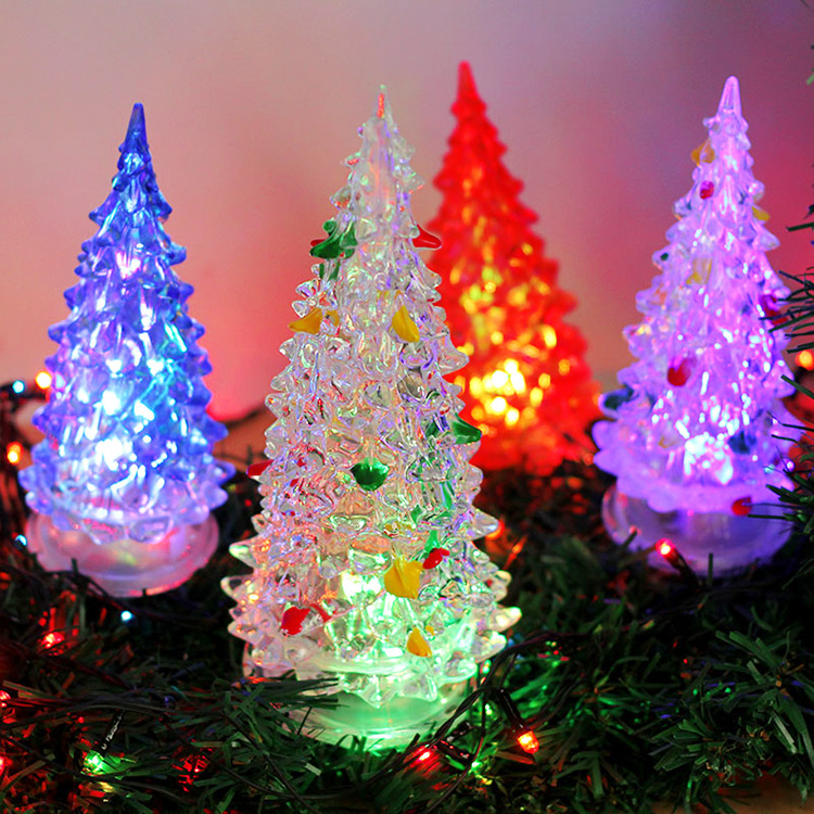 Love nightlight creative energy saving led night light colorful acrylic christmas tree lights christmas lights color lights
