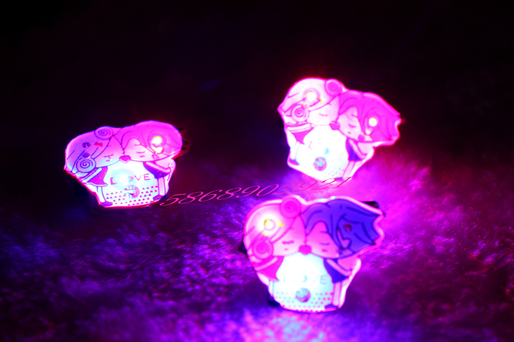 Love valentine's day series of flash brooch luminous badge luminous brooch disco bar small gifts