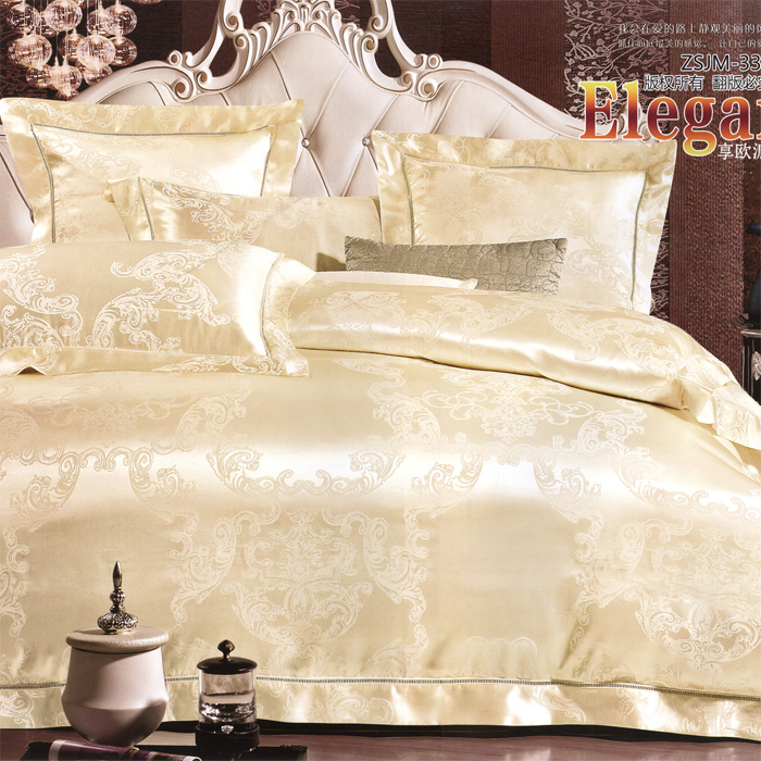 Love welcomes european textile villa software installed home supplies thick silk linen six sets XLZ-50