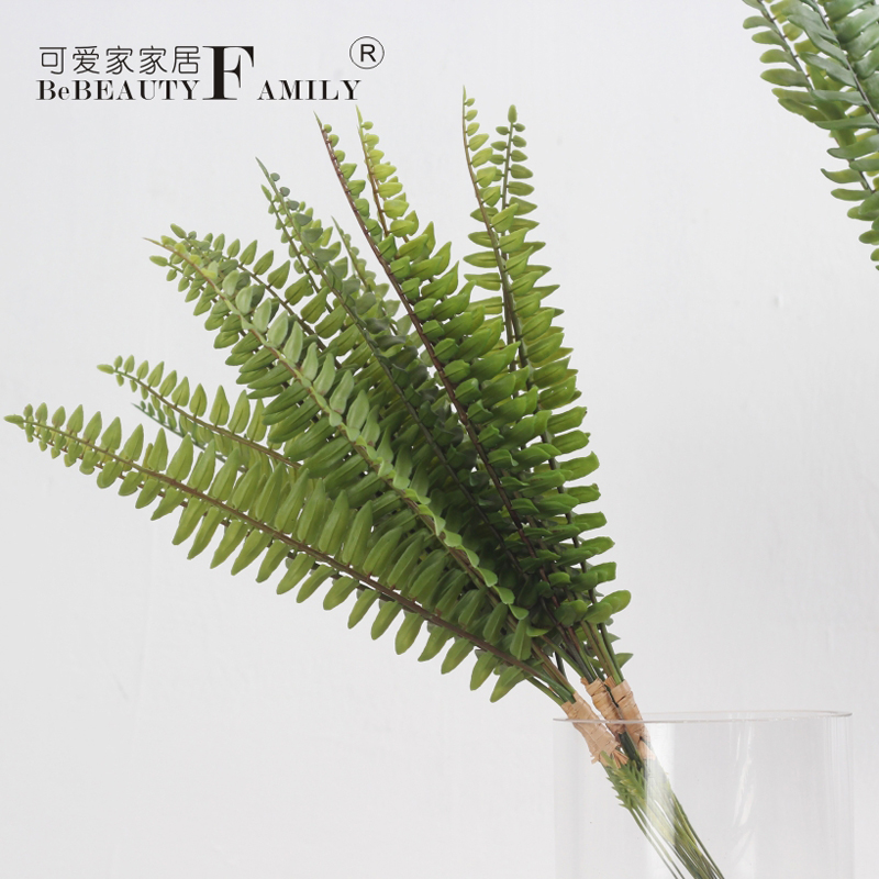Lovely home green plants simulation simulation persian grass fern leaf plant wall decoration floral decoration materials grass