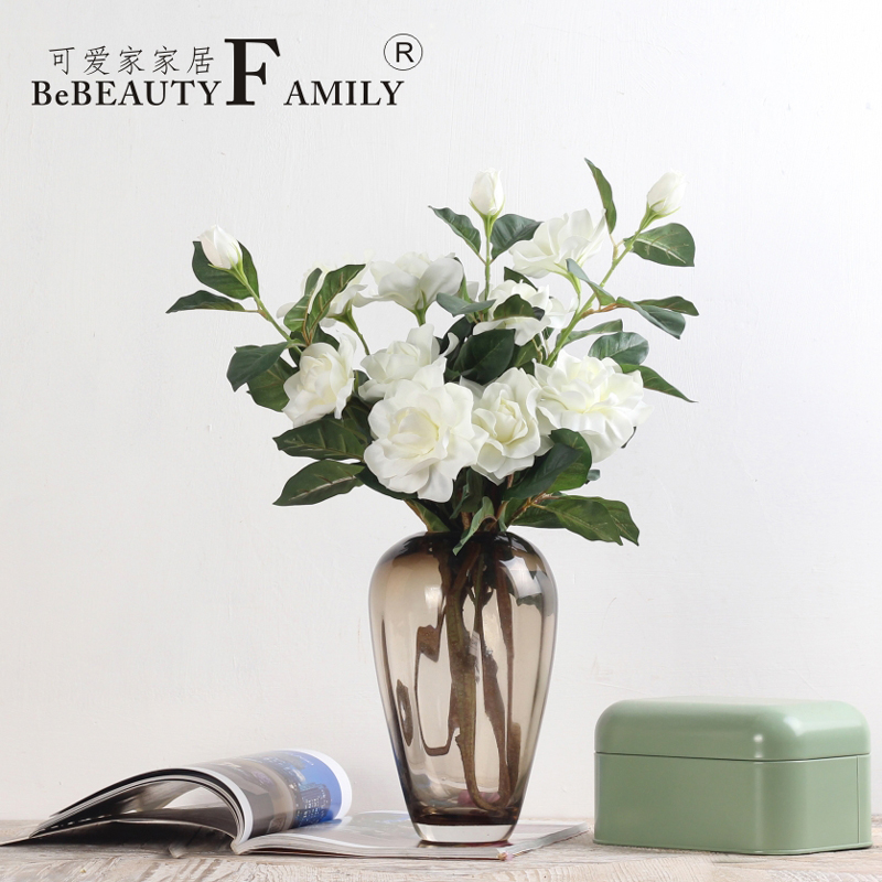 Lovely home with gje euclidian long sticks white raw silk flower artificial flowers artificial flowers decorate the living room bedroom home decorative artificial flowers