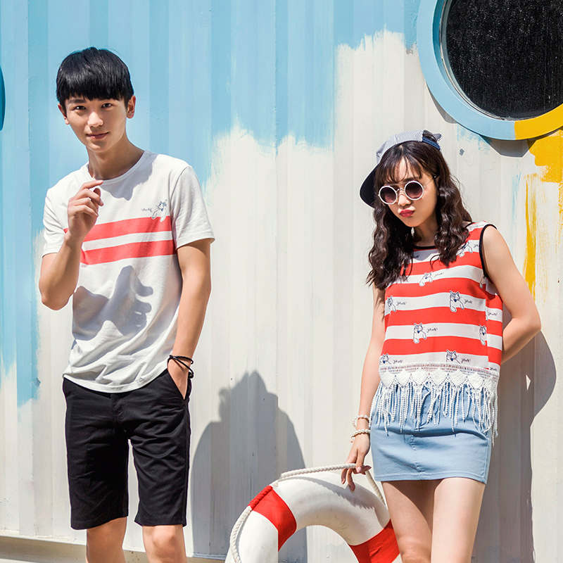 Lovers summer 2016 new wave of korean fan t-shirt shirt female tassel fringe qlz lovers summer was thin