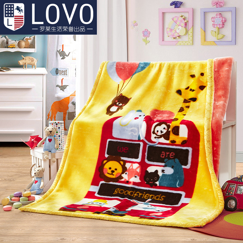 Lovo produced carolina textile thick blanket of cloud blanket blanket blanket cartoon children nap blanket raschel
