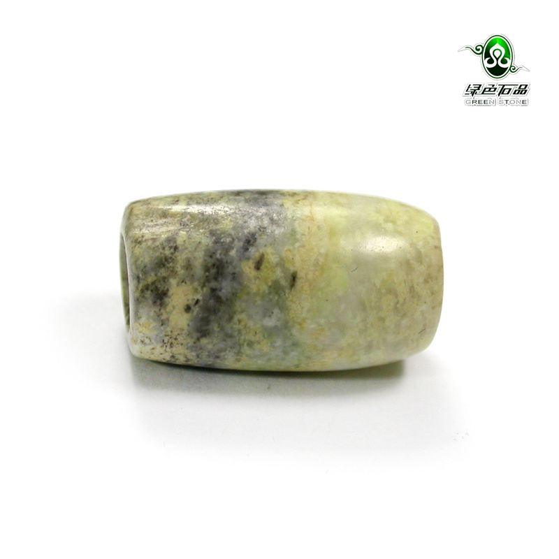 Lssp/green stone product does not bargain fidelity old local old pieces of jade accessories diy with beads loose beads mz1835