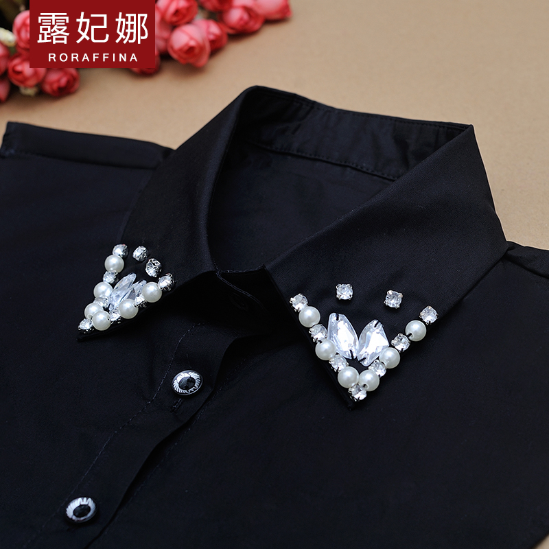 Lu fei na new winter 2016 korean version of the pointed collar wild decorative false collar shirt collar women sweater bottoming