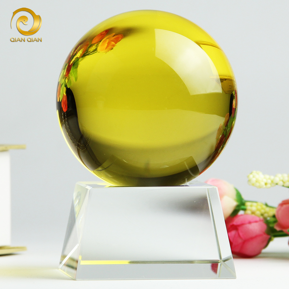 Lucky citrine crystal ball feng shui home decorations ornaments craft living room furnishings creative wedding gift wedding