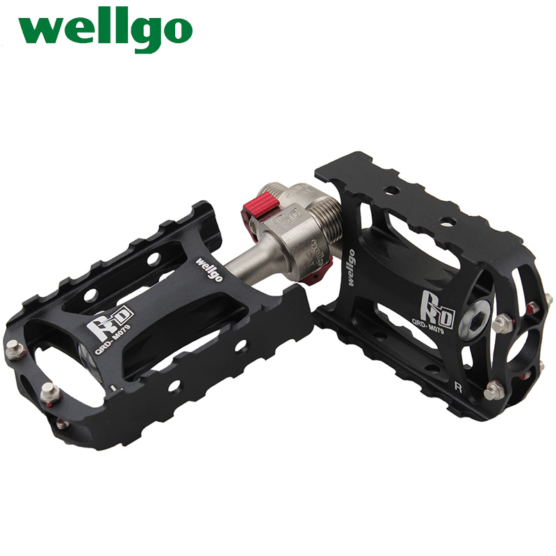 Ludwig taiwan wellgo qrd-m079 ultralight bearing peilin mountain bike pedal bicycle quick release foot pedal