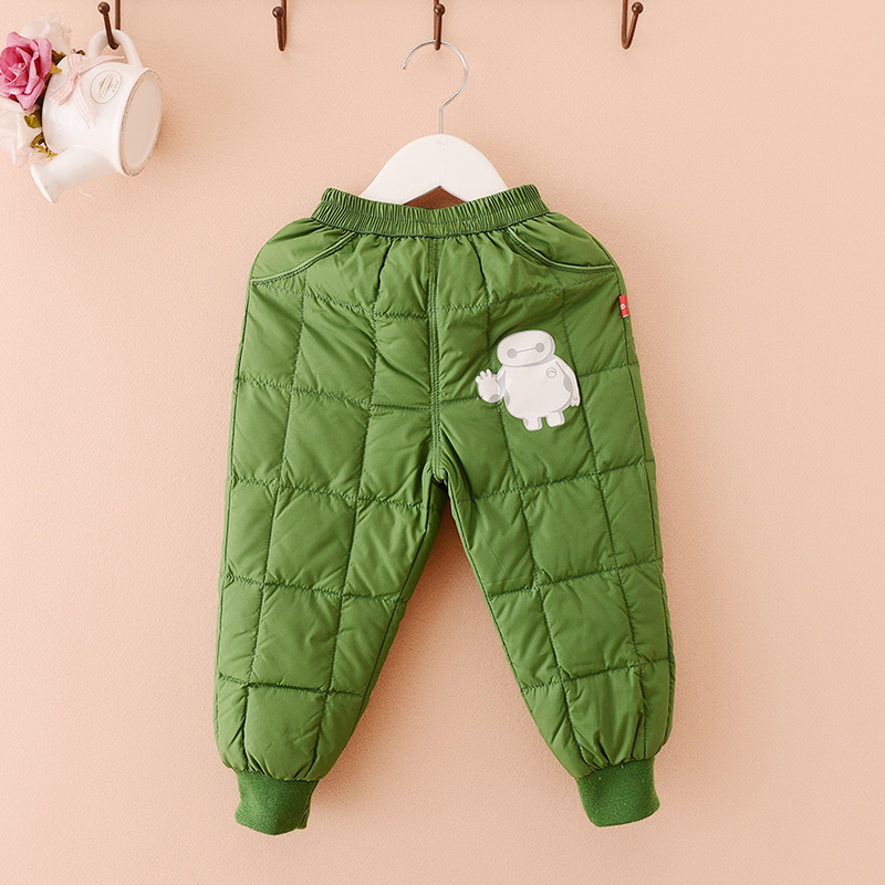 Lufthansa pro 2015 winter new baby boy baby boy cartoon casual warm down pants warm pants down pants